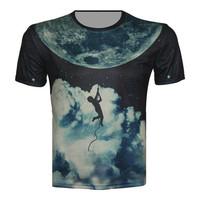Top Fashion hot sale t shirt earth galaxy boy 3d print t-shirt brand design tops short sleeve high quality funny clothes xs-6xl