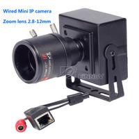 1.0MP 720P wired MINI IP camera 2.8-12mm ZOOM lens P2P ONVIF network box camera