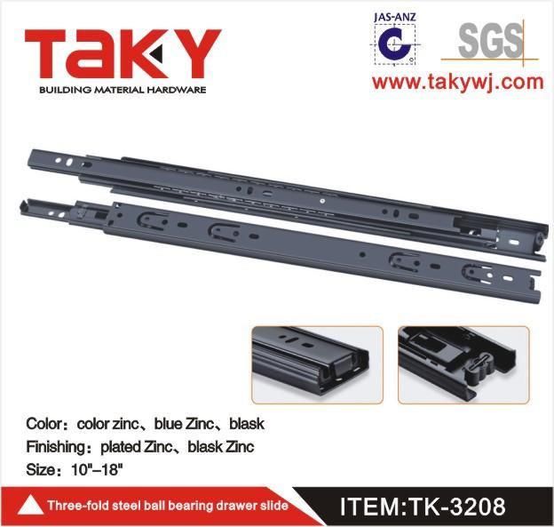 TK-3208B 3-Fold Full extension ball bearing furniture drawer slide(China (Mainland))