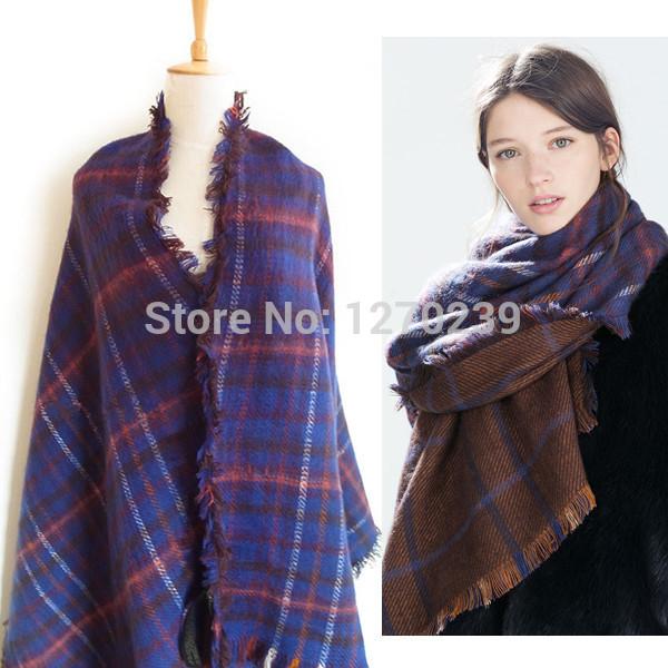 Cashmere Blanket Scarf Blanket Tartan Scarf 2014