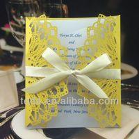 Paper europe wedding invitation card