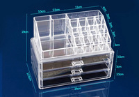 New Arrive SF-1304 Clear Acrylic Cosmetic Box Makeup Organizer case Dawers Jewelry Storage