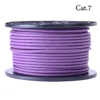 Vention SSTP Cat.7 Network Lan Ethernet cable 600MHz,10Gbps 50M/165ft Purple Free shipping Fast Delivery