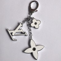 white sliver  water flower key chains