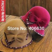2014 winter NEW fashion wool felt fedora hats for women, ladies cloche hat, chapeau feminino, free shipping