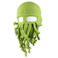 Barbarian Beard Beanie Octopus Knitted Hat