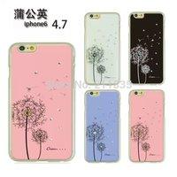 4 colors Dandelion Diamond Bling Plastic Hard Back Cover Case Skin For iPhone 6 4.7 inch Christmas Gift!!!