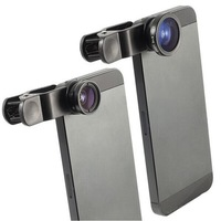 Fisheye Macro Wide Angle 3 in 1 Universal Clip Lens Mobile Phone Lens Cellphone Lens for iPhone Samsung HTC iPad Tablet