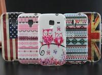For Samsung Galaxy ACE 2 i8160 Cute OWL Flag Stripes soft TPU phone cover skin case