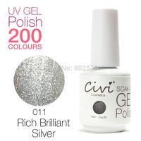 Civi Nail Gel Soak off UV nail gel 30 days Long Lasting 200 Gorgeous Colors The Best Gel Polish Choose 3 Colors