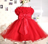 Red bow princess dress tutu color optional  free shipping