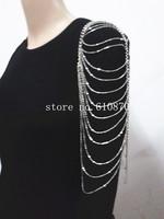 Shoulder Body Chain Harness Necklace Womens Single Shoulder Cuff Fashion Tassel Body Jewelry