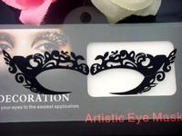 Hot Fashion halloween party royal wind lace eye stickers cutout False eyelashstickers lk027 Free shipping