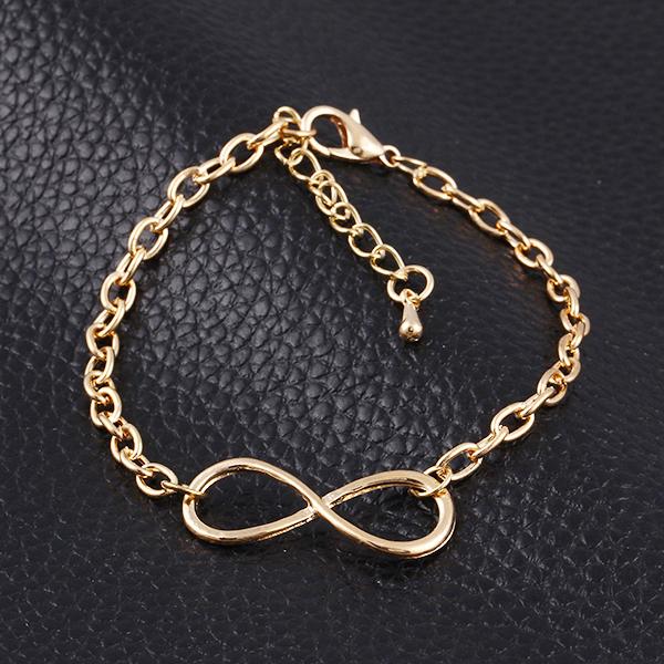 New Fashion Popular Plating Gold Metal Cross Infinite Bracelet & Bangle Charm chain bracelets Jewelry Wholesale For Women M16(China (Mainland))