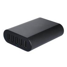 Universal 5V 10A 50W 5-Port Universal smart USB Desktop Charger for Apple Samsung Tablets and Smartphones