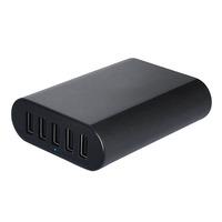 Universal 5V 10A 50W 5-Port Smart USB Desktop Charger for Apple Samsung Tablets and Smartphones