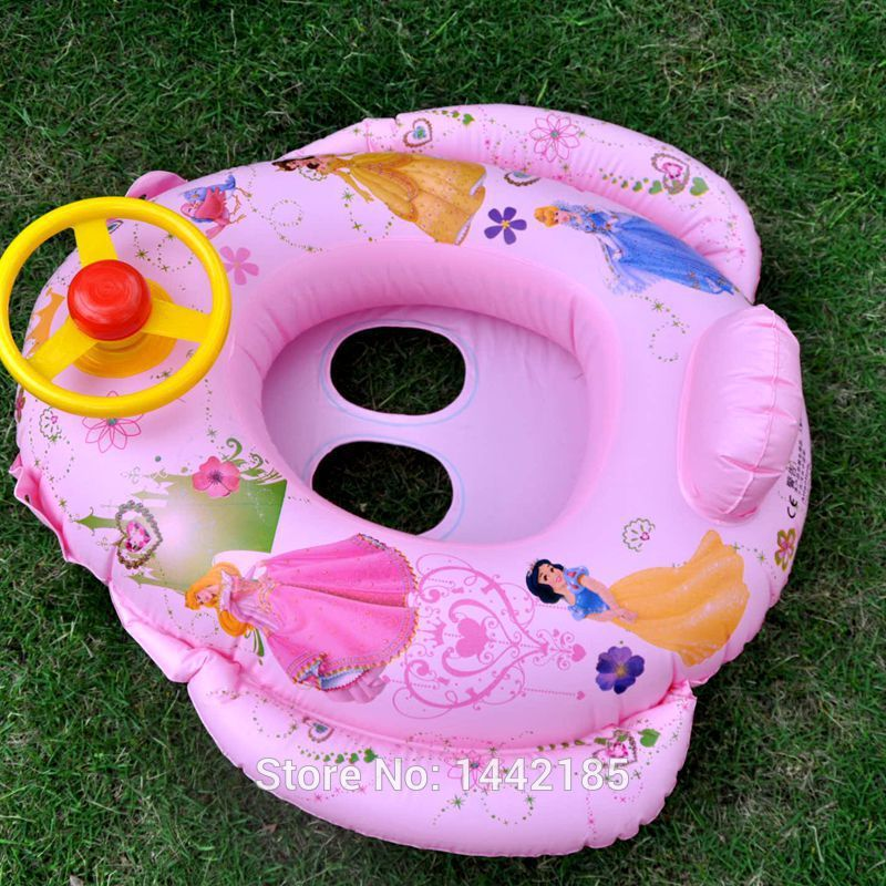 The princess children seat sit children boat swim ring Sit around with the steering wheel horn Take a boat(China (Mainland))