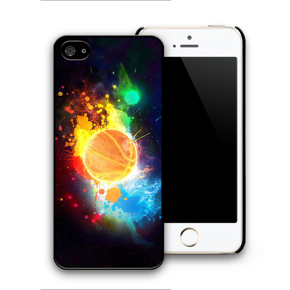 Wholesale color fire crazy basketball pattern phone case