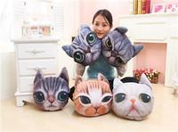 3D Cute Cat Dog Face Throw Pillows Cushion Toy Doll Decor Stuffed Plush Family Decos Hot Sale