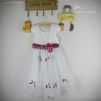 Retail discount New Arrival Girls Dresses sleeveless Flower Party Princess Dress Children's Clothing