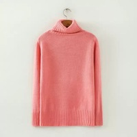 Korean Brief All Match Girl Primer Sweaters 4 Colors Long Sleeve Turtleneck Women Boutique Pullovers YS92018