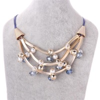 Free shipping! Newest fashion womens pendant necklaces, Trendy bulk gold alloy necklace