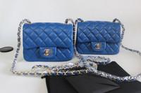 Luxury Bag:Fashion Genuine Leather Diamond Lattice Women Handbag