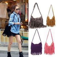 New 2015 Fashion Shoulder Bag Vintage Tassel Cross Body Casual Women Messenger Bags Popular Women Handbag free shipping