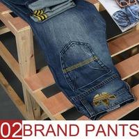 New arrival 2015 fashion winter men jeans denim blue 100% cotton pant famous clothing brand designer male pants top dropshipping