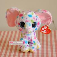 Free Shipping New Orignal TY  Beanie Boos Big Eye Elephant Animals Kids Plush Toys  For Children 16cm