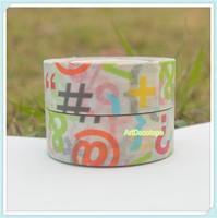10rolls 1.5cm*10m handmade decoration sticker shredded multicolour letter paper tape
