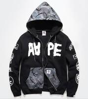 HARAJUKU aape bape men's Long sleeve Hoodies zipper shirt Sweatshirts men Hoody leisure suit coat outwear hiphop outerwear 06