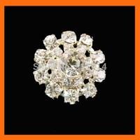 Free Shipping ! 100pcs/lot 22mm silver curve  round rhinestone embellishment for invitations
