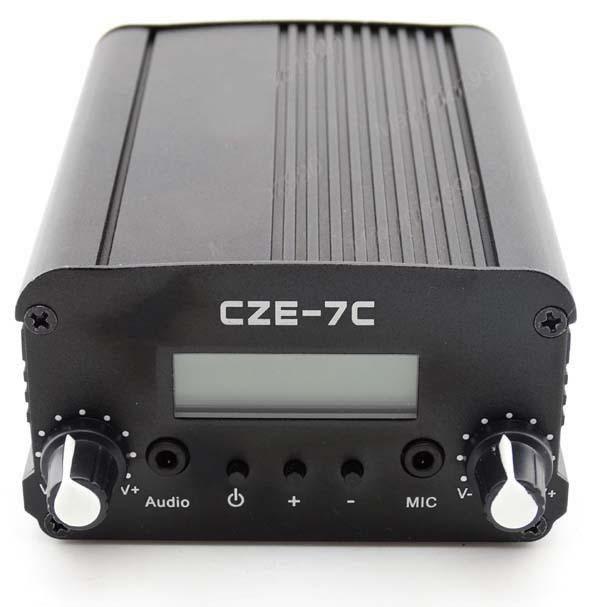 New 7W FM LCD Transmitter Stereo PLL Broadcast Radio Station 76~108MHz + Antenna(China (Mainland))