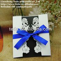 Free shipping! Laser cut seashell wedding invitation cards FC-013