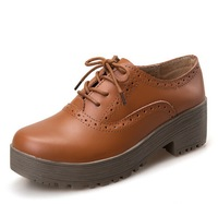 New Pison cake really rough with heavy-bottomed shoes with casual shoes women Bullock in British style shoes size35-40 S1177