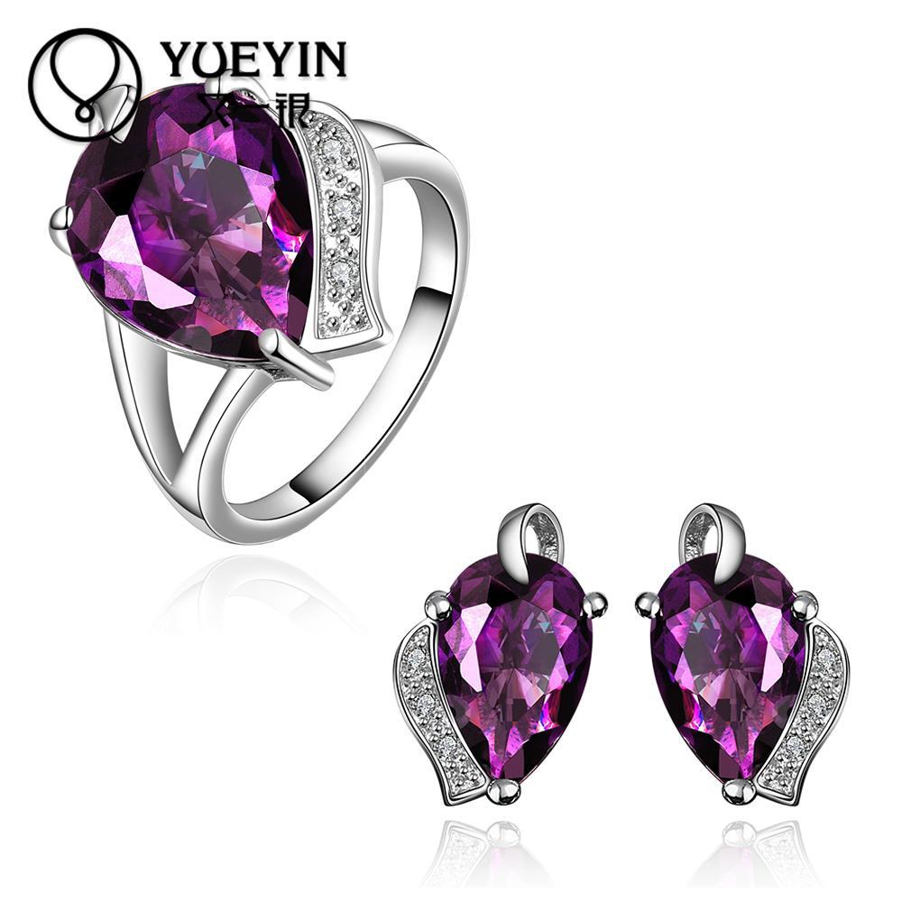 10sets lotFVRS023 2015 new fine jewelry sets Extravagant Party jewlery set for lady Fashion Big Crystal