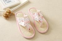 girl's flip slippers home slippers floor shoes flip flops women floral shoes