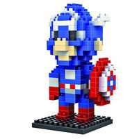 Free shipping Newest Loz gruond building blocks diamond assembling  plastic mini toysLeague Avengers Captain America educational