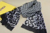 NEW Elegant Letters Leopard Pattern Wool Scarf ,Women's Fashion Long Scarves Shawl f Spring Winter ,170x65cm,Best Birthday Gifts