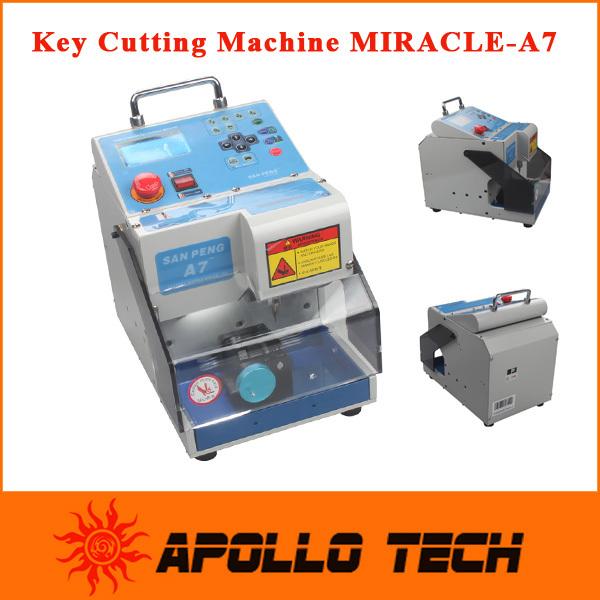 2015 Professional Korea MIRACLE-A7 Key Cutting Machine Car Key Cutter Full Automatic Electronic Three-Axe Key Cutting Machine(China (Mainland))