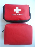 100% Brand New First Aid Kit Bag Fashion Portable Plastic Tweezers/Gauze/Scissors/PBT Bandage/First Aid Tape/First Aid Mask Sets