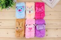 Free shipping Children's cartoon head scarf baby plush cartoon children scarves wholesale
