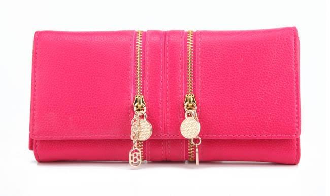 Fashion Double Zipper Women Wallets Long Deasign Candy Colors Female Coin Purse Card Holder Wallets For Women Carteira Feminina(China (Mainland))