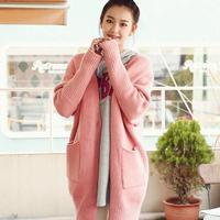 LSTKorea new winter fashion loose knit cardigan long sweater coat H6640