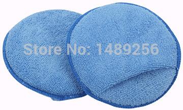"10-Pack Car Microfiber Wax Applicator Pads Auto Care Polishing Sponges 5"" Diameter with pocket(China (Mainland))"