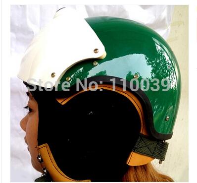 2014 MASEI Best ABS Green AIR JET Helmet Pilots Flying Helmets Motorcycle Half Helmet Electric Bicycle Open Face Pilot Helmet(China (Mainland))
