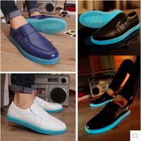 2014 luminous shoes version light shoes men platform wedge high shoes lights sneakers