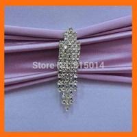 Free Shipping ! 100pcs/lot 70*22mm silver dangle rhinestone brooch pins for chair sash