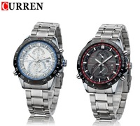 Curren Stainless Steel Quartz Business Men Sports Watch